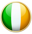 flag of ireland in round icon vector image