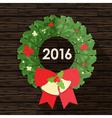 Flat design of christmas wreath vector image