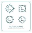 Letter L Monogram vector image