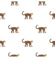 macaque monkey pattern seamless vector image