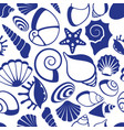 marine seamless pattern with sea shells vector image