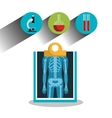 report x-ray icons medical service design graphic vector image