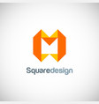 shape square letter m logo vector image