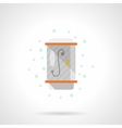 Shower stall flat color icon vector image
