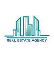 skyline real estate agency symbol vector image