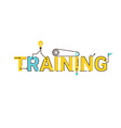 Training word lettering design vector image