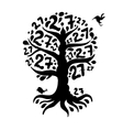 Tree 27 with roots for your design vector image