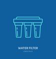 water filter plumber equipment vector image