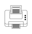 printer printing icon image vector image