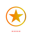 star in circle it is icon vector image