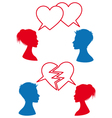 love and relationship speech bubbles vector image