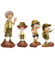 A family of explorers vector image vector image