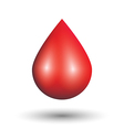 Blood drop on white background vector image vector image