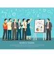Business Training Program Class Flat vector image vector image