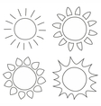 Set of hand drawn sun vector image vector image
