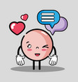 emoji emotion face with chat bubble message vector image