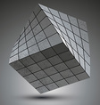 Modern galvanized stylish 3d construction created vector image