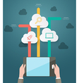 Modern infographic for cloud technology vector image