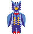 mosaic style colorful owl vector image