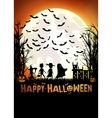 trick or treating on Halloween vector image