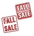 Two red realistic Fall Sale stamps vector image
