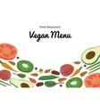 Vegan Restaurant cafe menu superfood vegetable vector image
