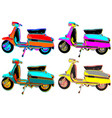 Warhol mod scooters vector image