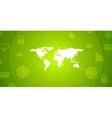 Global communication green tech design vector image vector image
