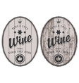 set of wine labels vector image vector image