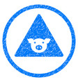 pig error rounded grainy icon vector image