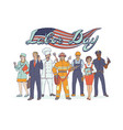 people different professions national holiday vector image