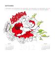 calendar for 2012 september vector image vector image