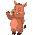 cute little hog vector image