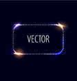 dot frame with light effects vector image