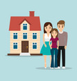 family home traditional image vector image