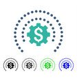 Financial sphere shield options flat icon vector image