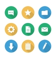 Flat design digital icons set vector image