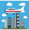 flying airplane image vector image