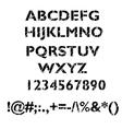 Grunge alphabet set vector image