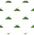 Mountain icon in cartoon style for web vector image