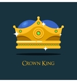 Blinking shiny king golden crown or crest vector image