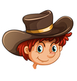 An image of a boy wearing a hat vector image vector image