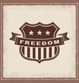 vintage freedom label vector image