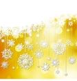 Beautiful snowflake Christmas EPS 10 vector image