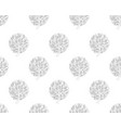black tree seamless on white background vector image