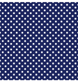 Seamless white polka dots navy blue background vector image
