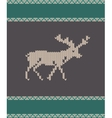 knitted deer vector image