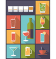 Drinks and beverages vector image