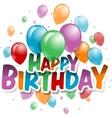 a Happy Birthday Card vector image