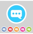 Chat speech bubble flat icon vector image